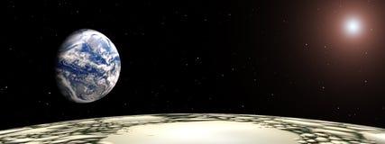 Снято от луны иллюстрация вектора