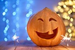 Снятый головы jack тыквы хеллоуина Стоковые Изображения