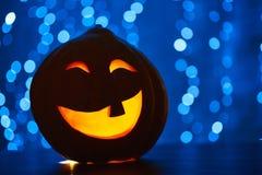 Снятый головы jack тыквы хеллоуина Стоковая Фотография