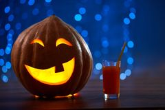 Снятый головы jack тыквы хеллоуина Стоковое Фото