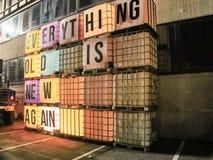 Снятый знака на восточном рынке стоковое фото