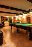 Снятый комнаты клуба биллиарда Стоковое фото RF