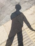 Снятый на моей тени мирно стоковое изображение rf