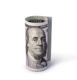 Снятый 100 долларов Стоковое фото RF