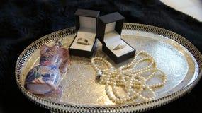 Снятый свадьбы или обручального кольца Стоковые Изображения