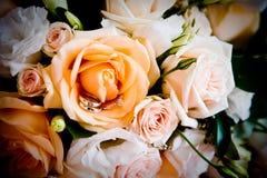 Снятый свадьбы или обручального кольца Стоковые Изображения RF
