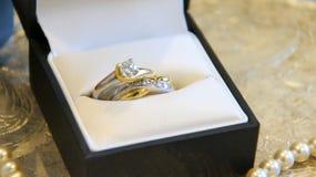 Снятый свадьбы или обручального кольца Стоковые Фото