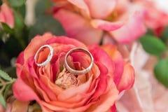 Снятый свадьбы или обручального кольца Стоковое Изображение