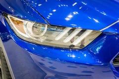 Снятый современной фары автомобиля Стоковое фото RF