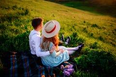 Снятый счастливой пары наслаждаясь днем в парке совместно Стоковые Фото