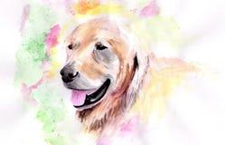 Собака акварели Стоковое Изображение RF