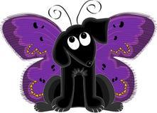собака бабочки иллюстрация штока