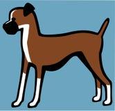 собака боксера иллюстрация штока