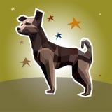Собака вектора в полигональном стиле Иллюстрация штока