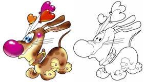 собака воздушных шаров стоковое изображение rf