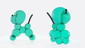 Собака воздушного шара животная зеленая стоковые фотографии rf