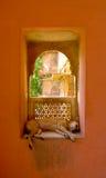 Собака в окне Стоковое Фото