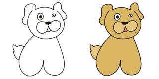 собака довольно иллюстрация вектора