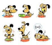 Собака, животное, шарж, любимчик Стоковые Изображения
