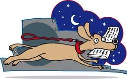 Собака и бумага Стоковые Фотографии RF