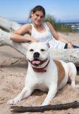 Собака и женщина Стоковое фото RF