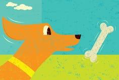 Собака и косточка Стоковая Фотография RF