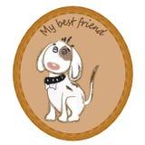 Собака картинной рамки Стоковое Фото