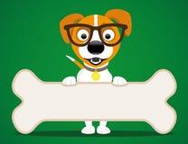 собака косточки милая Стоковое Изображение