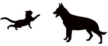 собака кота бесплатная иллюстрация