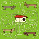 Собака - лабиринт Стоковое Изображение