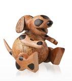 Собака милого ремесленничества piggy банка деревянная Стоковая Фотография RF