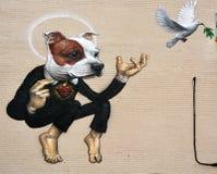 Собака мопса Монреаля искусства улицы Стоковые Фотографии RF