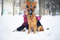 собака младенца Стоковое Фото