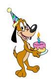 собака дня рождения счастливая Стоковые Изображения