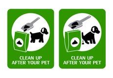 Собака очищает вверх подписывает Стоковые Изображения RF