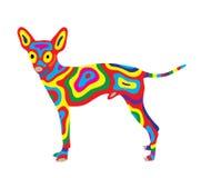 Собака 7 радуги Стоковые Изображения