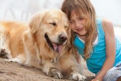 собака ребенка Стоковое Изображение RF
