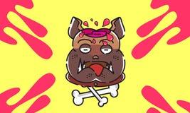 Собака смертельно мозговитые 16061996 характеров дизайна Стоковые Изображения RF