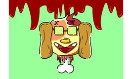 Собака смертельно bloody 16061996 характеров дизайна Стоковые Фотографии RF