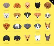 Собака смотрит на шарж 4 значка Стоковое Изображение RF