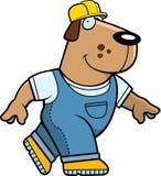собака строителя иллюстрация штока