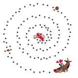 собака счастливая Иллюстрация вектора