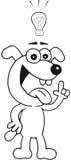 Собака с идеей Стоковые Изображения