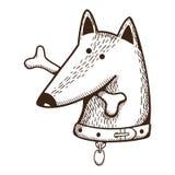 Собака с косточкой Стоковое Фото
