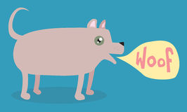 собака шаржа лаять Стоковая Фотография RF