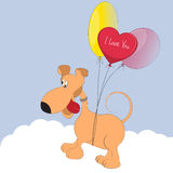 собака шаржа милая Стоковая Фотография RF