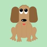 собака шаржа смешная Стоковое Изображение