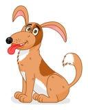 собака шаржа усмехаясь Стоковая Фотография RF