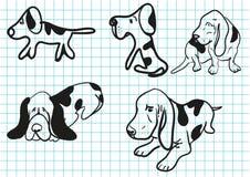 собака шаржа Стоковое Фото