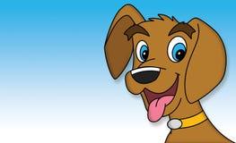 Собака щенка шаржа стоковое изображение